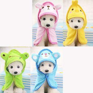 Köpek Kedi Kapüşonlular Köpek Süper Emici Bornoz Köpek Temizleme arz XD22464 için Sevimli Hayvan Köpek Havlu Yumuşak Kurutma Banyo Pet Havlu