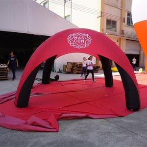 Inflável Dome Evento Tent leve e portátil Air Dome Tent Aranha Promoção Gazebo com impressão personalizada Base de Blower Dia0.4x3.6xH2.5 m