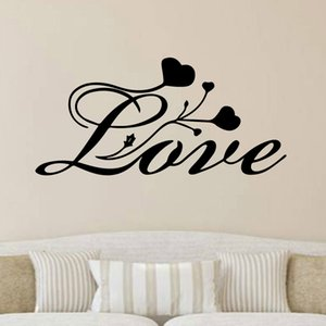 Fun love Wall Sticker Pvc Removable For Kitchen Restaurant Waterproof Wall Art Decal