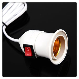 Pendant Lamp Holder E27 Screw Socket with Switch Two Phase Plug Red Black Switch 100% Brand New and High Quality