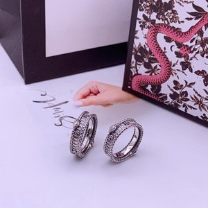 2020 latest products sterling silver retro ring stripes ring fashion trend ring top luxury jewelry supply