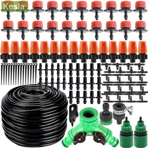 KESLA 25m Micro Drip Irrigation Watering Kits System Automatic & Adjustable Dripper Atomizer for Potted Plant Garden