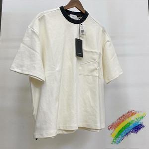 2020ss Rhude Camiseta Homens Mulheres 1: 1 de alta qualidade Moda Casual solta bolso Rhude camisetas Top Tees T200219