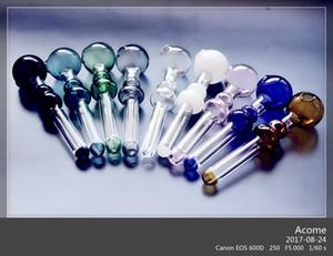QBsomk Mais recente Pipes Calabash Vidro Oil Burner mudança da cor da tubulação Mini Oil Burner Mão Blown Recycler Melhor vidro Burner