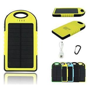 2020 Güneş Enerjisi Bankası Su geçirmez Şarj Telefon 5000mah Taşınabilir Güneş Enerjisi Bankası Cep Telefonu Güç Banks için