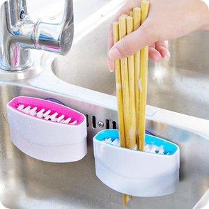 Faca esponja faca escova de limpeza Chopsticks e Ferramentas escova de limpeza Fork Melon Fruit escova Polidor de limpeza doméstica KKA7950