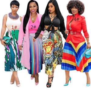 womens summer dress designer Mid-Calf pleated dress high quality skirt elegant luxury clubwear hot selling klw0595