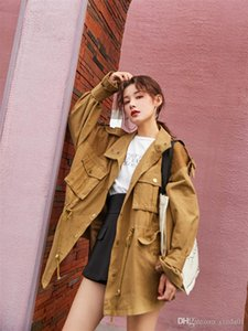 Womens Jackets Loose Cotton Female Ladies Jacket New Autumn Solid Color Women Jackets Single Breasted Casual Long Sleeve Jackets