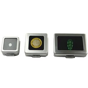 صغير فضفاض الماس أو جوهرة ستون عرض صندوق معدني حالة تخزين الحاويات مجوهرات الأحجار حامل الأحجار الكريمة المنظم ZC0238