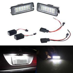 Пара без ошибок 24 LED Количество номерного знака для VW GOLF MK4 MK5 MK6 PASSAT