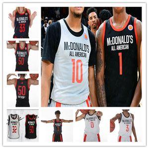Пользовательские 2019 Макдональдс All-American Basketball Джерси Precious Achiuwa Исайя Стюарт II Коул Энтони Уэнделл Мур Джеймс Wiseman Льюис 4XL