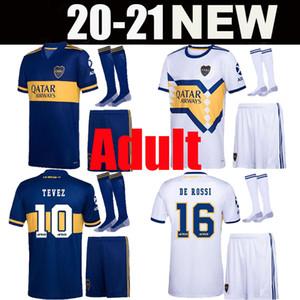 Взрослый комплект DE ROSSI 2020 2021 Бока Хуниорс футбол Джерси Salvio 20 21 Камиза де Futebol Тевес BENEDETTO NANDEZ Pavón человек комплект рубашки футбола