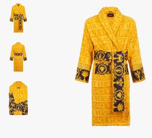 100% de algodón de lujo italiana Señalización Impresión Albornoz barroca de la vendimia Jacquard albornoces medusa diseño de impresión Swim Batas Hotel Home Decors