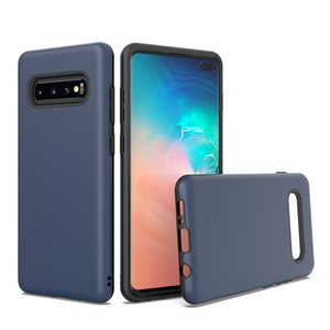 For Samsung A20 A10E J2 Core J7 2018 S10 5G E Plus 2 In 1 Design Protector Hard PC Soft TPU Shockproof Scratch Resistant Glossy Phone Case