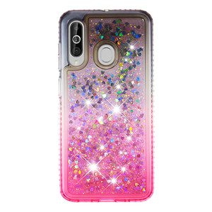 2021 Heißer Verkauf Anti-Herbst Wasserdichte Side Bohrer Plus Gradient Farbe Quicksand TPU Handy-Kasten für Samsung Galaxy M40 A60