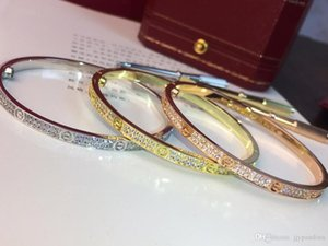 HYWo Hot Narrow Version LOVE Star Bracelet Imported Asian Gold Plating 18k Rose Gold Platinum Three Color Optional Inlaid High Carbon Drill