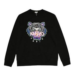 Дизайнерский бренд 2019 новый Тигр голова вышивка шею пуловер свитер мужской высокое качество тигр голова свитер Мода Спорт Повседневная куртка