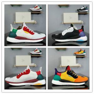Newes Haute Qualité Race humaine PW Pharrell x solaire Hu Glide ST Femmes Hommes Chaussures de course blanc noir chaussures Designer Zebra Runner sport Sneaker