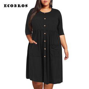 Large Size 9xl 2019 Fat Mm Woman Soild Colors Dress Elegant Plus Larger Women's Clothes 9xl Party Dress Vestidos Release Sale Y19071001