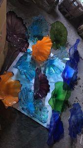 Искусство декоративные ручной выдувного стекла настенные тарелки ручной выдувного стекла стены искусства турецкий стиль выдувное стекло Декоративные настенные светильники
