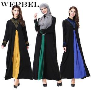Kadınlar Müslüman Prayer için WEPBEL İslami Elbiseler Kaftan Abaya Kız İslami Ortadoğu Elbiseler Uzun Elbise Giyim