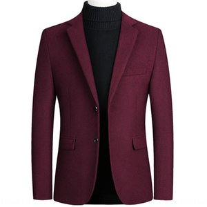 Season 2019 men's woolen small suit business Coat wool Jacket wool casual jacket coat single suit men's