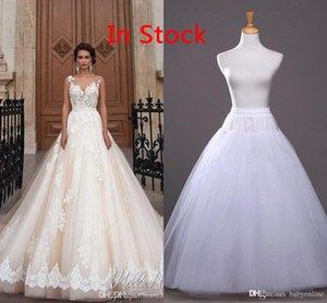 شحن مجاني في سوق الأسهم A-خط زلة التنورة الداخلية رخيصة الزفاف لفساتين الزفاف اكسسوارات الزفاف 2020 الزفاف تحتية CPA212