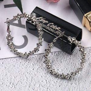 Großer Kreis-Ohrring-Goldsilber der heißen Europa-Modeschmuck-Frauen übertriebene Band-Ohrringe S390