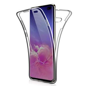 360 Voltar e caso frente para o iPhone X XS XR 11 Pro MAX 7 8 Plus cobertura completa cobertura macia do telefone de TPU