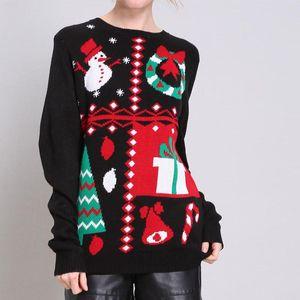 Femmes Noël Designer Chandails Mode en vrac Noël Print Womens truand Chandails Noël Les femmes Vêtements décontractés