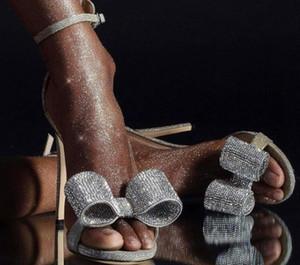 2019 nouvelle mode AliExpress commerce extérieur strass arc chaussures à talons hauts avec talon aiguille avec sandales de mode pour femmes