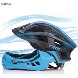 moto equilíbrio capacete criança capacete integral rolo da bicicleta da criança de segurança scooter de patinação de proteção conjunto de engrenagens CD50 Q02