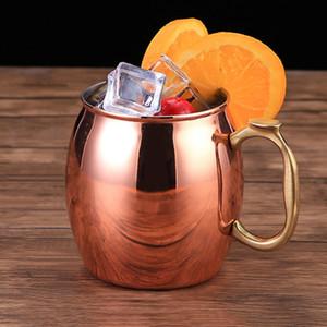 430 ml Taza de cobre puro Cobrizo Hecho a mano Durable Moscow Mule Tazas Taza de café para bar Drinkwares Party Kitchen