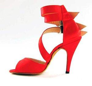XSG Yeni Kırmızı Latin dans ayakkabıları topuklu yetişkin kadın Latin dans giyim yumuşak tabanlı ayakkabılar balo salonu sahne dans ayakkabıları