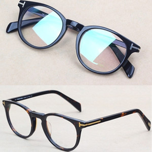 Marco de la marca redonda marcos de las lentes de los hombres vidrios ópticos Gafas moda Vintage marcos de los vidrios de la miopía 5409 Italia marca de gafas con el caso