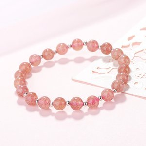 Wholesale-Agood high quality pink strawberry beads bracelet for women girls fashion jewelry accessories
