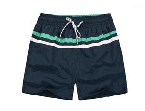 Swimwear Shorts Mens Striped Board Beach Shorts Summer Fashion Casual Little Horse Printed Sports