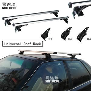 2 pcs Bares Universal 135 centímetros Car Roof Rocha Cruz para bagagem suporte de bicicleta rack de carga Basket Roof caixa de bagagem Car 5502