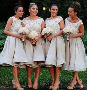 우아한 짧은 신부 들러리 드레스 고품질 아플리케 숙녀 공식 행사 착용 착용 드레스 결혼식 맞춤형 댄스 파티 드레스