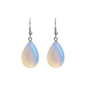 New Korean Girl Ear Jewelry Oorbellen Women Dangle Earring Creative White Opal Stone Stud Earrings