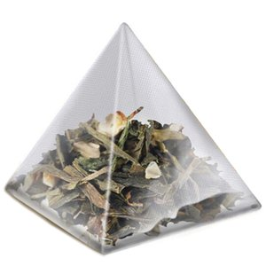 Hot 1000Pcs5.5 X 7Cm Pyramid Tea Bag Filter Nylon Tea Bag Single String Label Transparent Empty Tea Bag Suitable for tea, spice