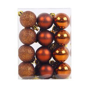 Surwish 24 Pz / lotto 3 cm Sfera Decorativa di Natale Ornamenti Baubles Per Albero di Natale - Bronzo