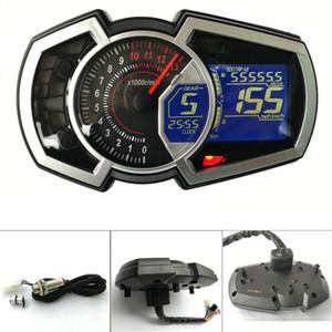 13000 DIY Evrensel 1,2,4 silindir LCD Motosiklet Yarışı Sokak Bisiklet Kilometre Kilometre sayacı RPM Hız Yakıt Göstergesi