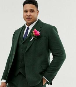 الرجال الدعاوى الحلل جودة عالية مخصص الزيتون الأخضر الرجال يتأهل العراسة الزفاف لثلاث قطع سترة السراويل العريس سهرة