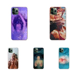 Custom Abstract Art Underwater Boy Girl TPU Cases Covers For Galaxy Grand A3 A5 A7 A8 A9 A9S On5 On7 Plus Pro Star 2015 2016 2017 2018