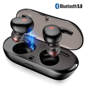 T2C TWS Wireless Mini Bluetooth Earphone For Xiaomi Huawei Mobile Stereo Earbud Sport Ear Phone With Mic Portable Charging Box