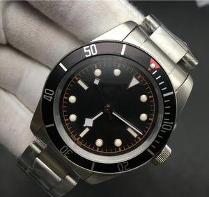 Роскошный HERITAGE BLACK BAY ROTOR MONTRES часы мужские 79230 M79230N Браслет из нержавеющей стали автоматический механический механизм 2813 наручные часы 41mm