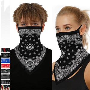 Radfahren Masken Schal Unisex Bandana Motorrad Schal Kopftuch Hals-Gesichtsmaske im Freien US Flag Printing Radfahren Stirnband LXL1427Q