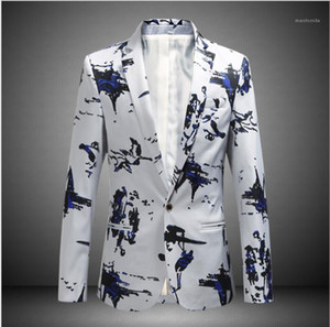 Size Print Coat Fashion Slim Fit Suits Spring Autumn Male Clothing Mens 2020 Luxury Designer Blazers Plus