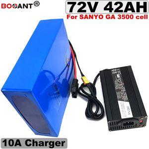 Batterie au lithium électrique puissante 72V 40AH 5000W pour batterie de vélo électrique d'origine SANYO 18650 + 10A chargeur livraison gratuite